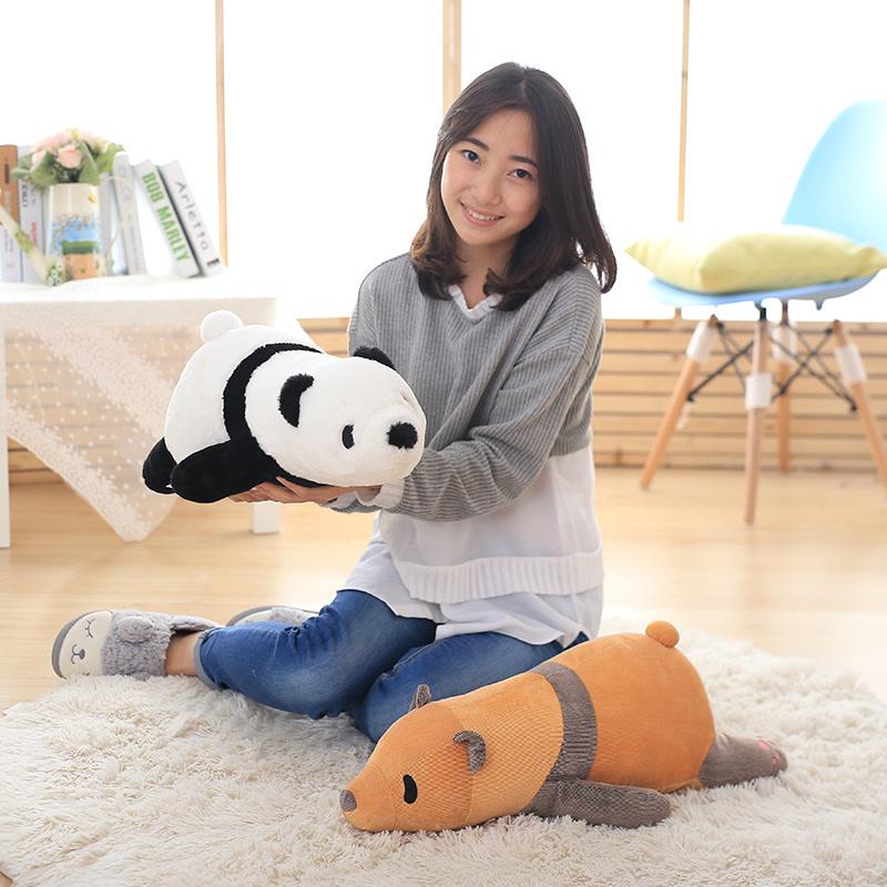 黑白趴趴熊猫公仔玩偶毛绒玩具熊大号趴趴熊抱枕生日礼物女生娃娃