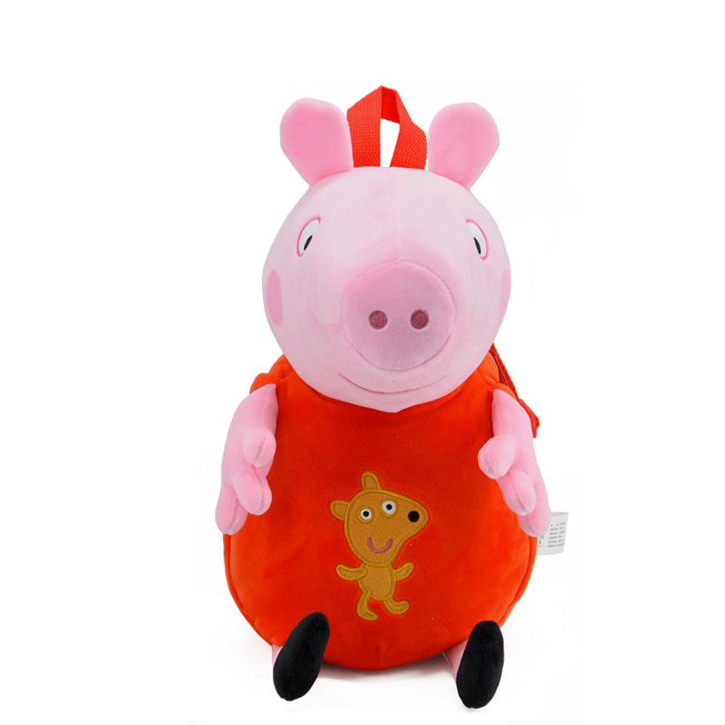 小猪佩奇公仔背包  卡通儿童男孩女孩毛绒背包 Peppa Pig粉红猪小妹